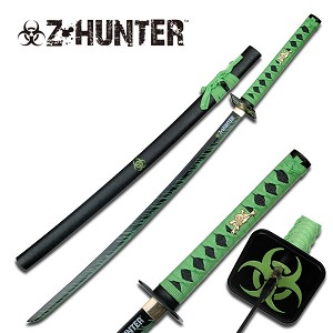 41 Inch Zombie Hunter Samurai Sword with Bio Hazard Logo on Tsuba