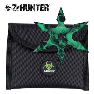 Z Hunter 6 Point Green Skull Camo Throwing Star